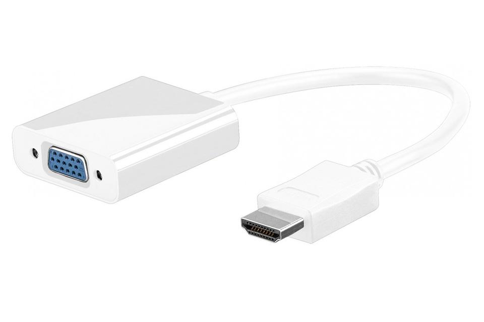 HDMI til VGA adapter, hvid