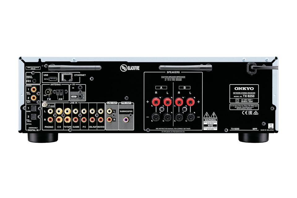 Onkyo TX-8250 stereo forstærker, rear