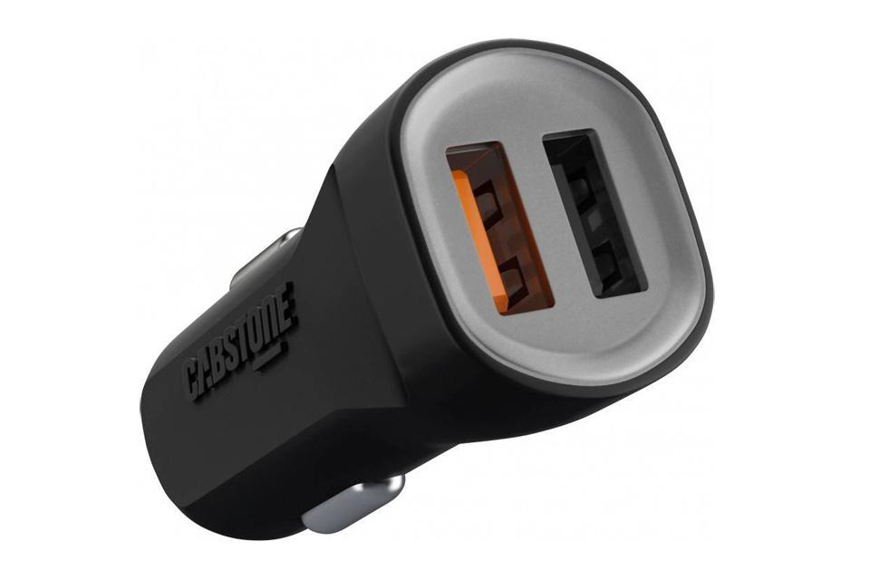 12V USB oplader til bil på 4800 mA med 2 porte og Quick Charge 3.0 teknologi for ekstra hurtig og intelligent opladning af smartphones/tablets.