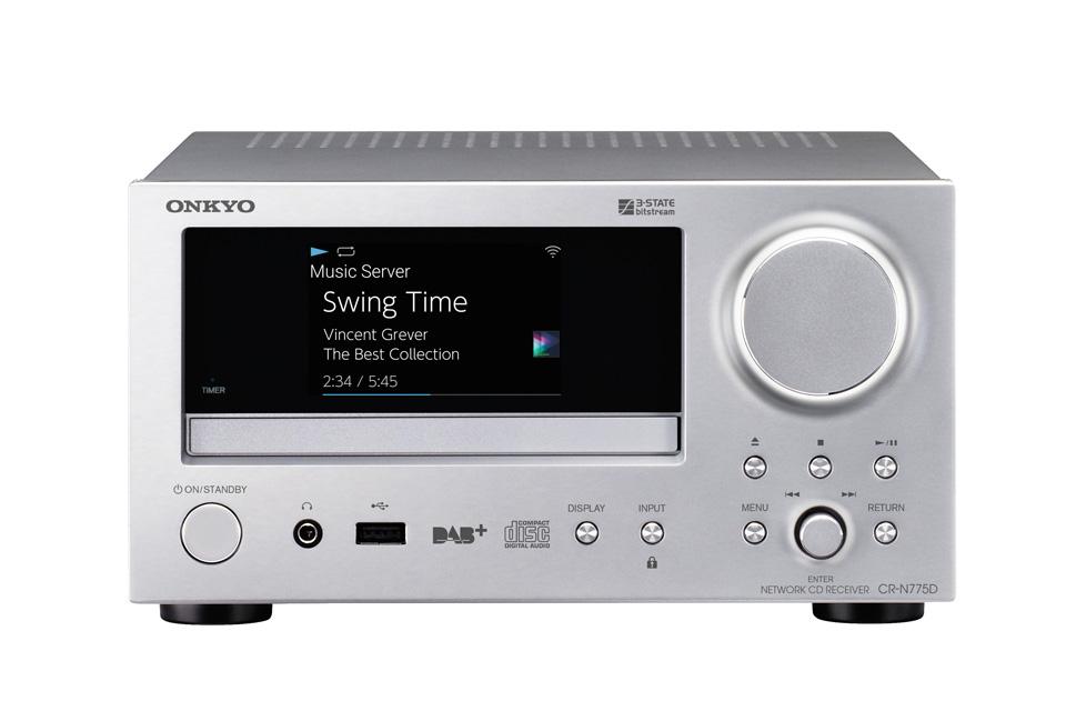 Onkyo CR-N775D CD-receiver, sølv