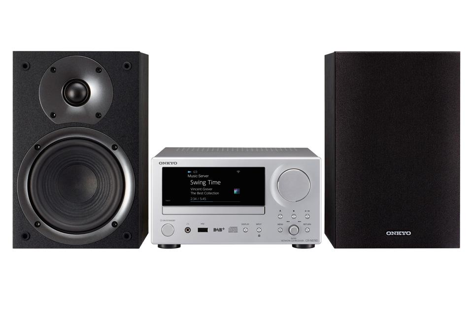 Onkyo CS-N575D stereo system, sølv