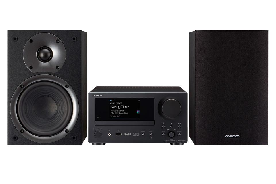 Netværks stereo anlæg med højttalere og indbygget CD-afspiller. CS-N575 har gode streamings muligheder, DAB+ radio og meget mere.