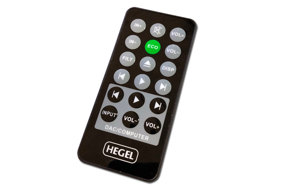 Hegel RC remote for use with e.g. Hegel H80, HD11, HD12, HD20 and HD25