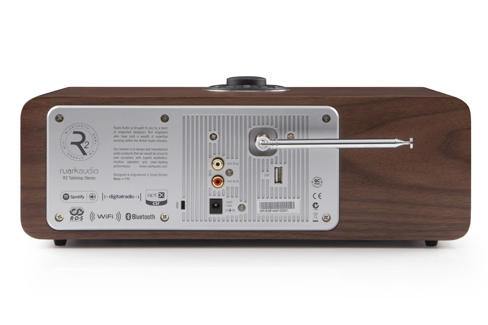 Ruark Audio R2 MK3 back, walnut
