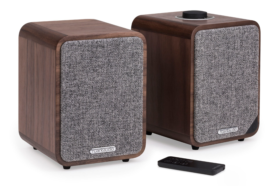 Ruark Audio MR1 MK2 active bluetooth speakers, soft grey
