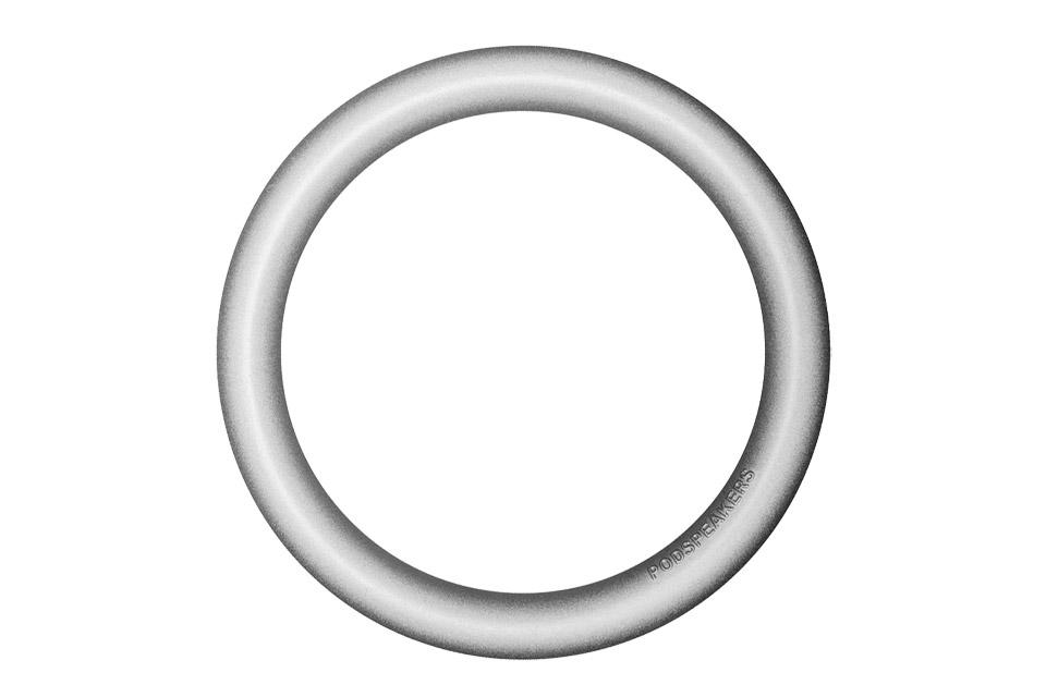 Podspeakers aluminium hoop, soft silver