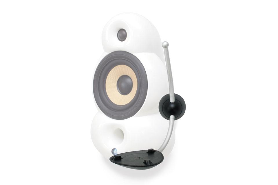 Stilfuldt og elegant vægbeslag til MiniPod højttaleren. Dette vægbeslag gør det muligt at vinkle og tilte højttaleren efter behov.