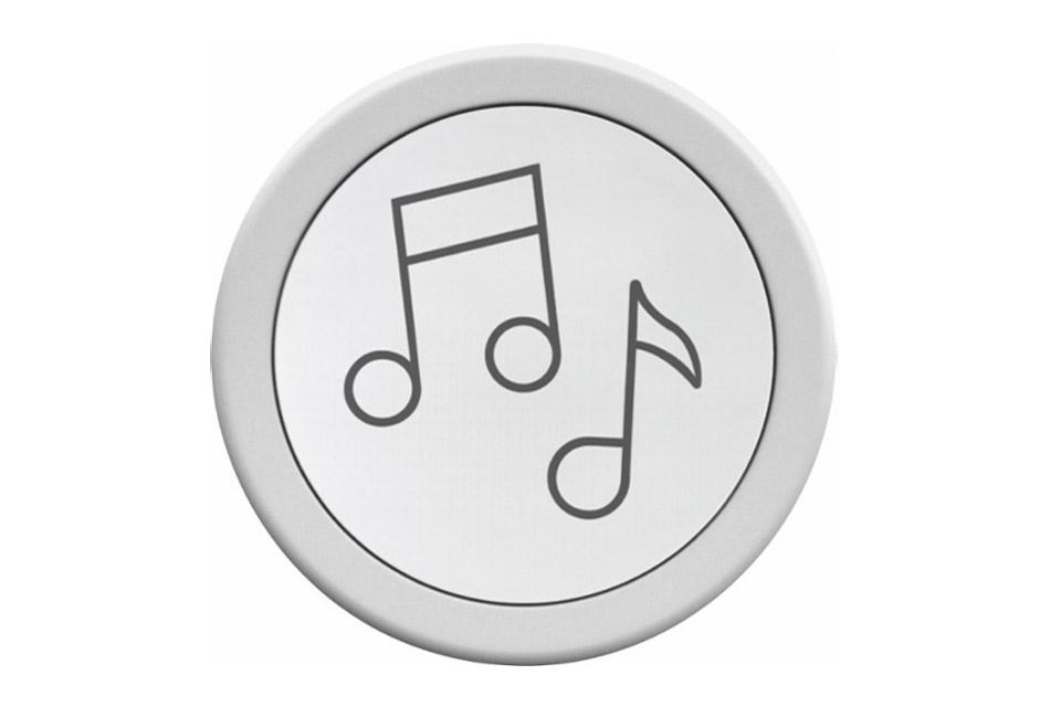 Flic giver dig 3 tryk muligheder til at betjene dine musik apps. Virker som trådløskontakt for Sonos, Bose SoundTouch, Spotify osv. 24 måneders batteritid.