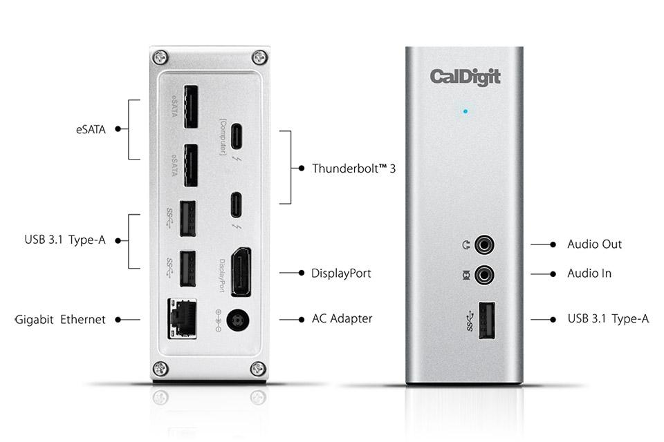CalDigit Thunderstation 3 giver dig mulighed for at få mere udbytte af din Thunderbolt port. Den kommer i et lækkert og praktisk aluminiums design.