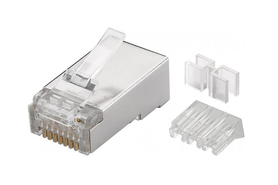 Rj45 Cat 6a Stp Modular Connectors Awg 23 26