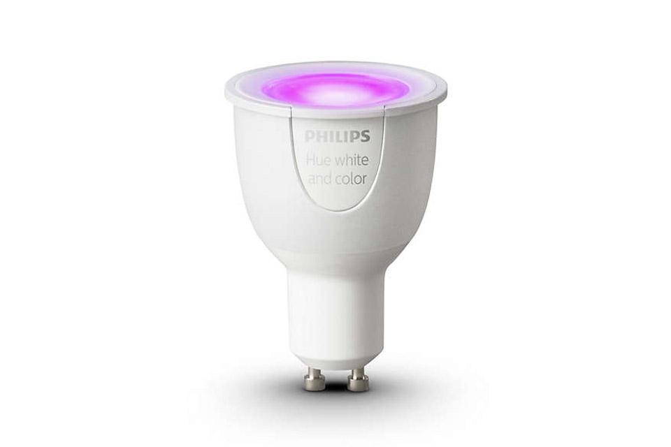 philips hue color gu10 led bulb. Black Bedroom Furniture Sets. Home Design Ideas
