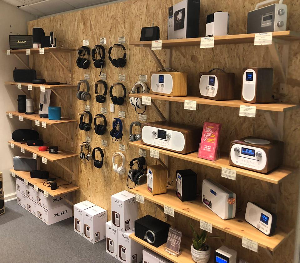 , AV-Connection Odense Butikken: Radio og transportabel lyd