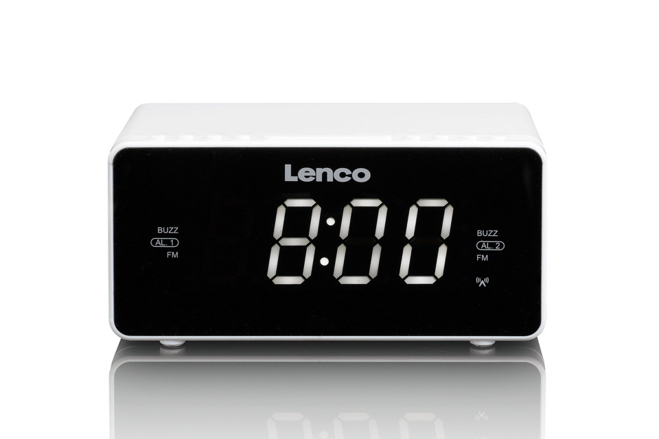 Lenco CR-530 clockradio, white
