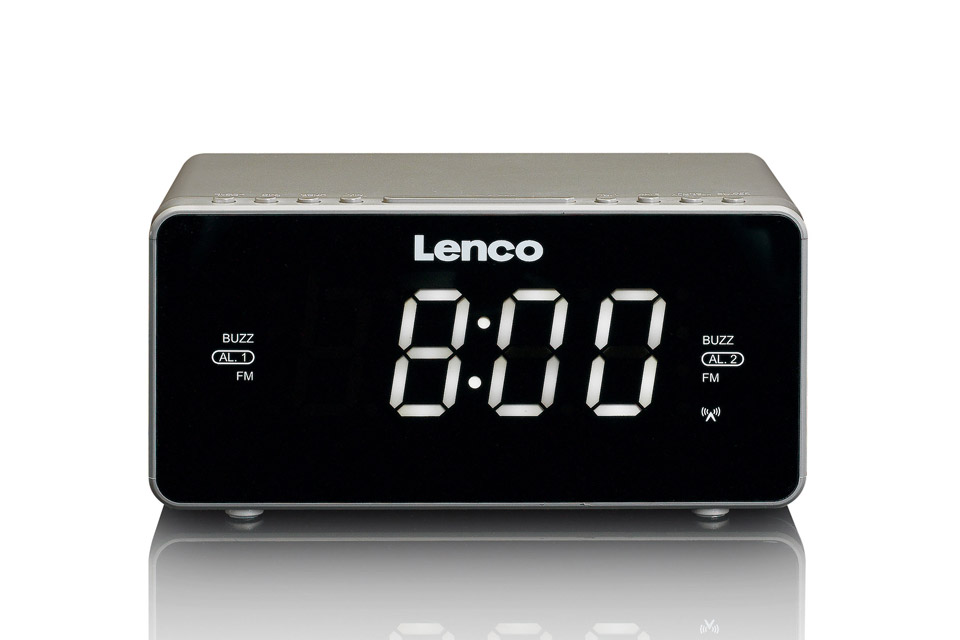 Lenco CR-530 clockradio, taupe