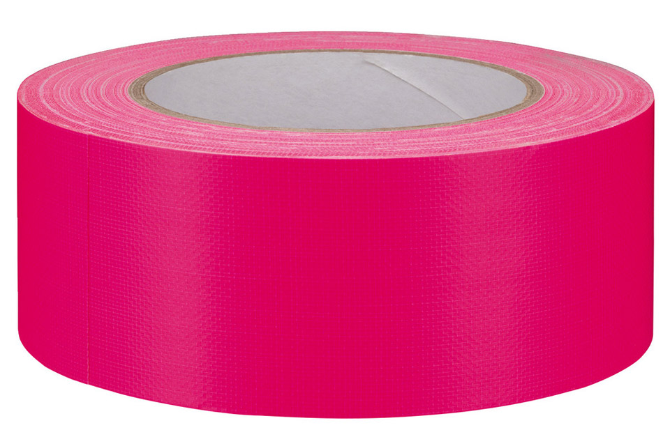 Gaffa-tape stor neon pink