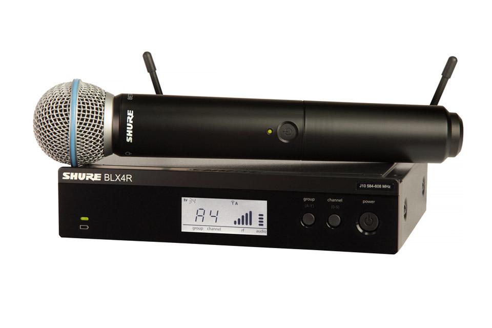 Shure Blx24re B58 K3e Tr 229 Dl 248 S Mikrofon Og Modtager H 229 Ndholdt