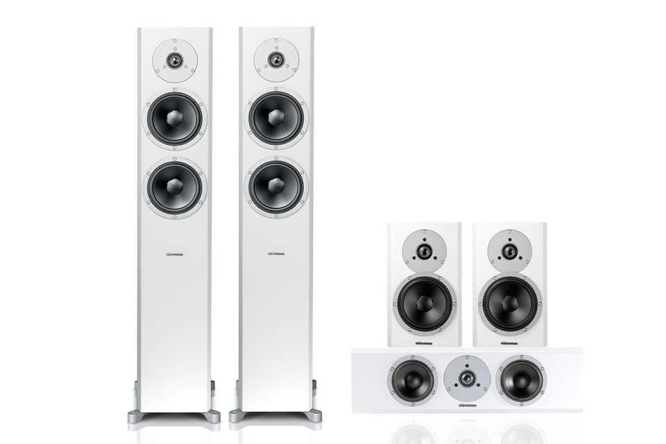 Dynaudio Excite 5.0 surround system, hvid