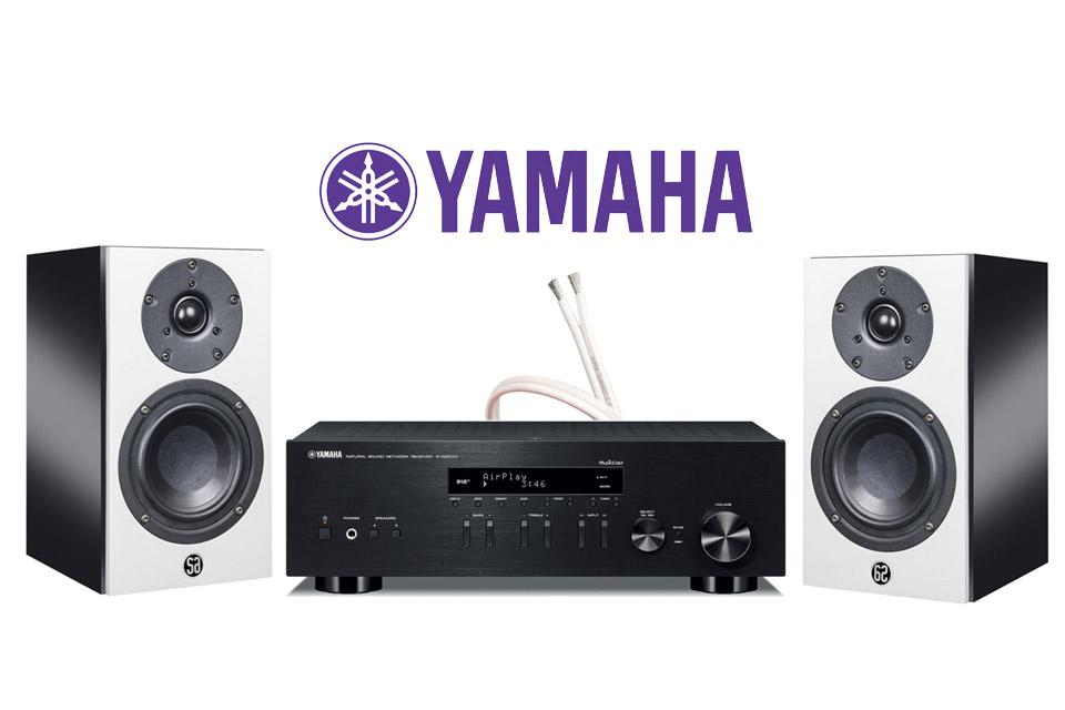 System Audio Mantra5, sort højglans inkl. Yamaha R-N403D sort