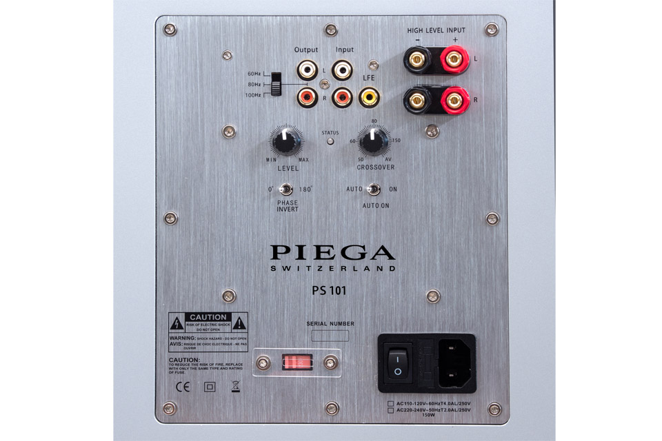 PIEGA PS 101 subwoofer, rear