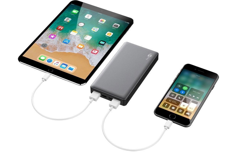 Quick Charge USB powerbank, 15.000 mAh