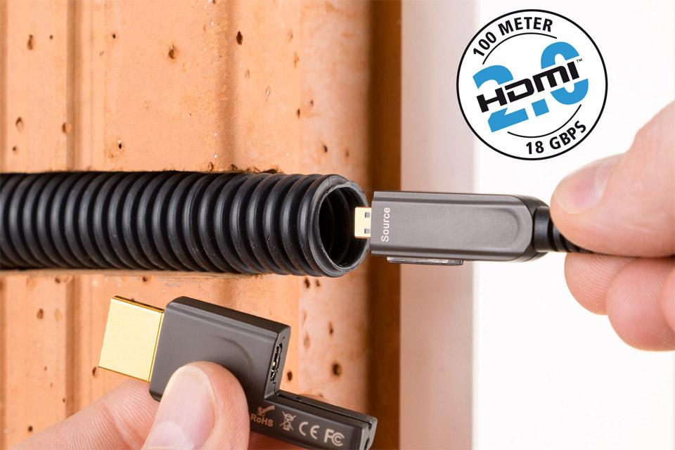 Inakustik Profi Optisk HDMI kabel, Type D - A