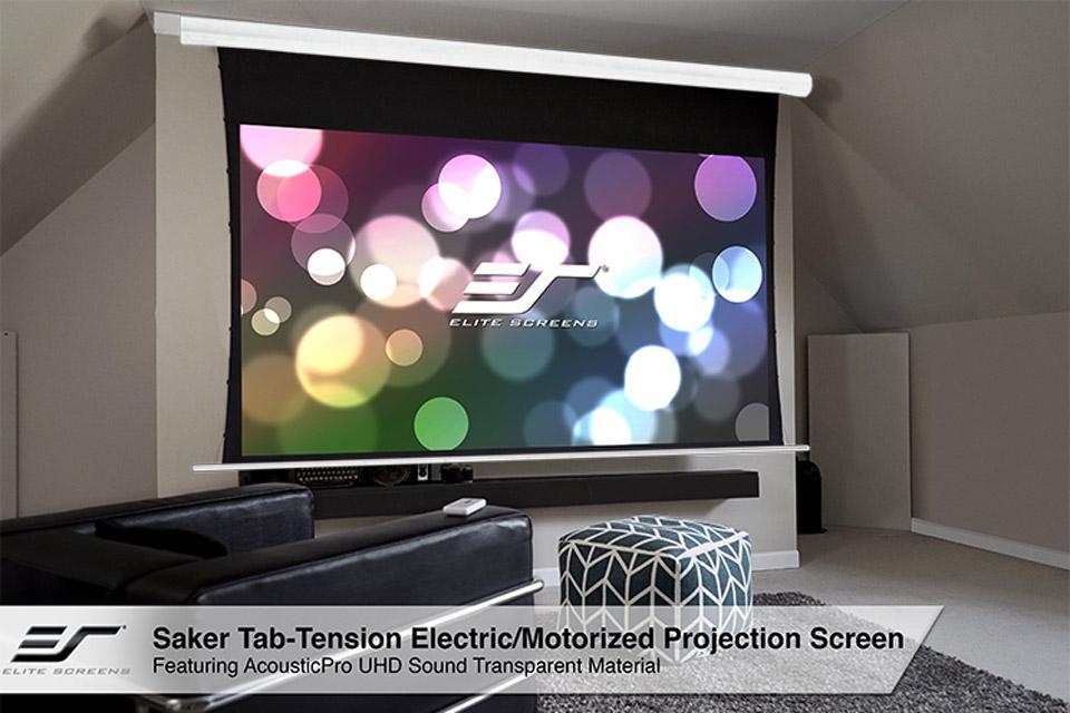Elite Screens Saker Tab Tension lærrede, AcousticPro