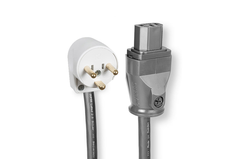 Supra LoRad SPC strøm kabel med vinklet DK stik