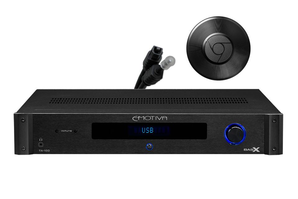Emotiva BasX TA-100 stereo amplifier inkl  ChromeCast Audio, black