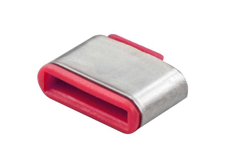 Lindy USB-C/ Thunderbolt 3 Port Blocker, rød