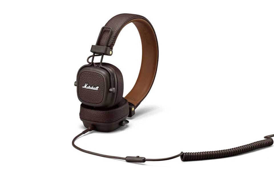 Marshall Major III on-ear hovedtelefoner, brun