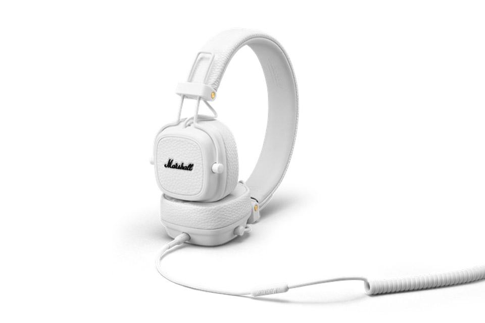 Marshall Major III on-ear hovedtelefoner, hvid