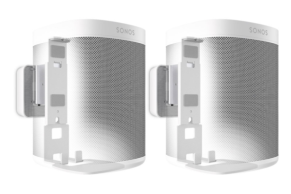 Sonos One - Dual pack with wallmount, white