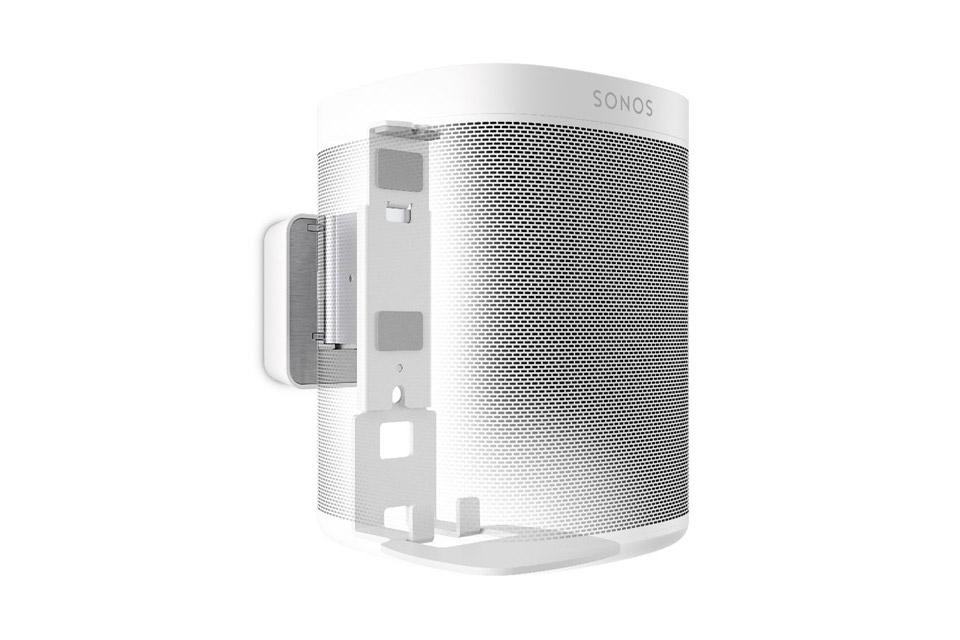 Sonos One smarthøjttaler, inkl. Vogels Vægbeslag, hvid