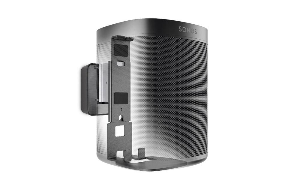 Sonos One smarthøjttaler, inkl. Vogels Vægbeslag, sort