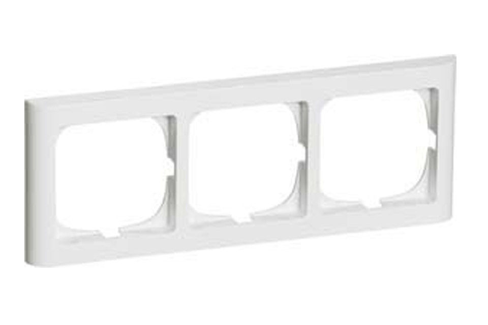 LK Softline 63, 3 modul vandret, hvid