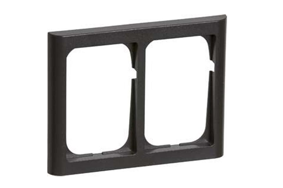 LK FUGA Softlone ramme 2x1.5 modul, koksgrå