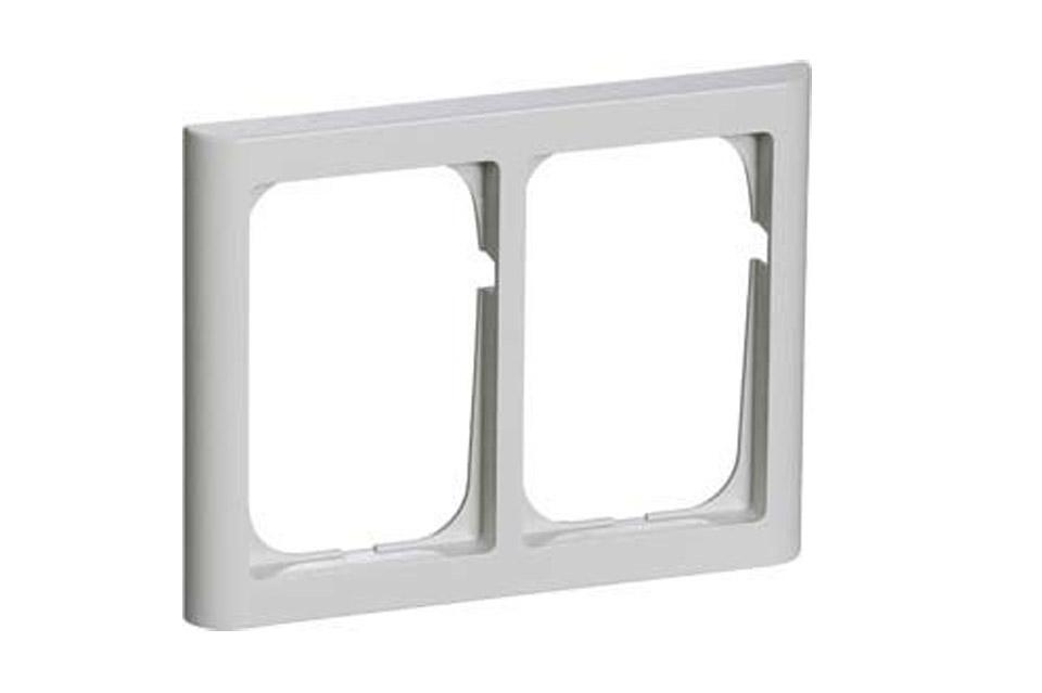LK FUGA Softlone ramme 2x1.5 modul, lysegrå