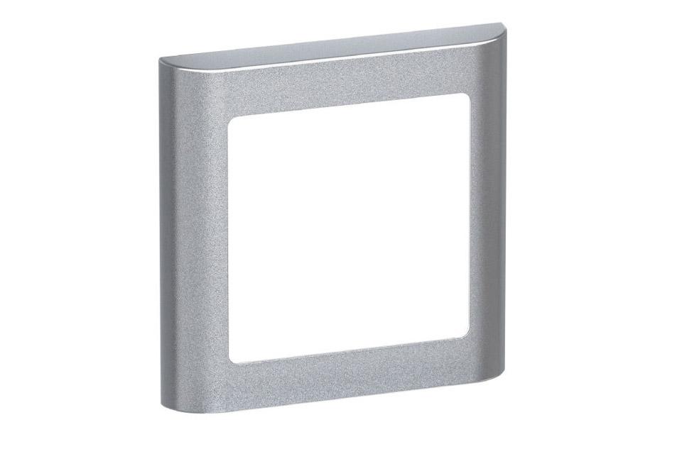 LK FUGA Softline designramme, 1 modul, alu sølv