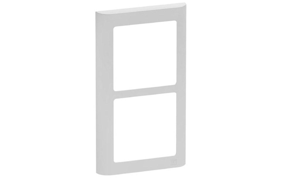 LK FUGA Softline designramme, 2x1 modul, lysegrå