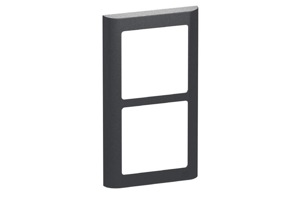 LK FUGA Softline designramme, 2x1 modul, koksgrå