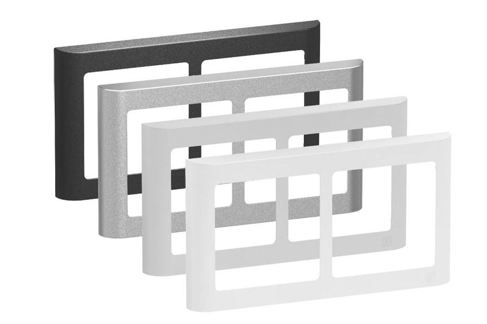 LK FUGA Softline designramme, 2x1 modu vandret, alle farver
