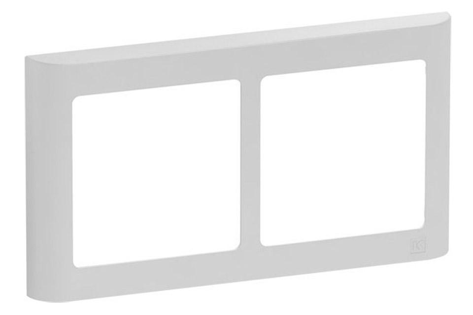 LK FUGA Softline designramme, 2x1 modu vandret, lysegrå