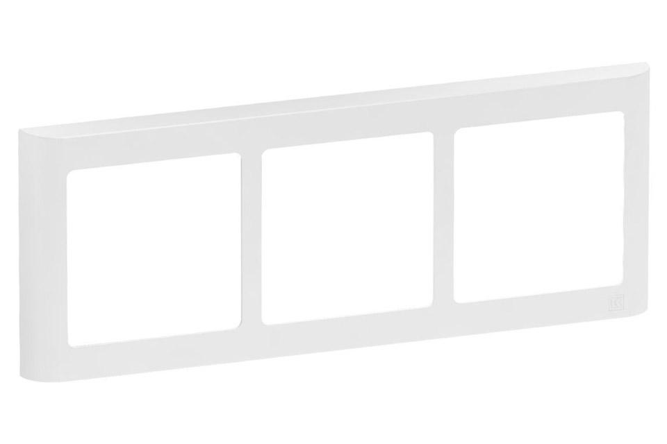 LK FUGA Softline Design ramme, 3x1 vandret modul, hvid