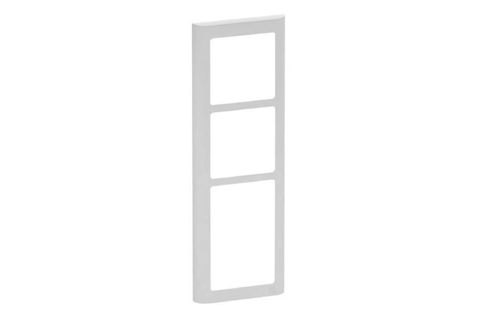 LK FUGA Softline designramme, 3,5 modul, lysegrå