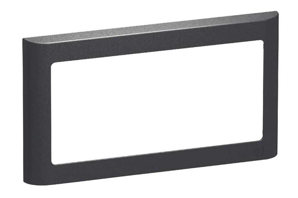 LK FUGA Softline designramme, 1x2 modul, koksgrå