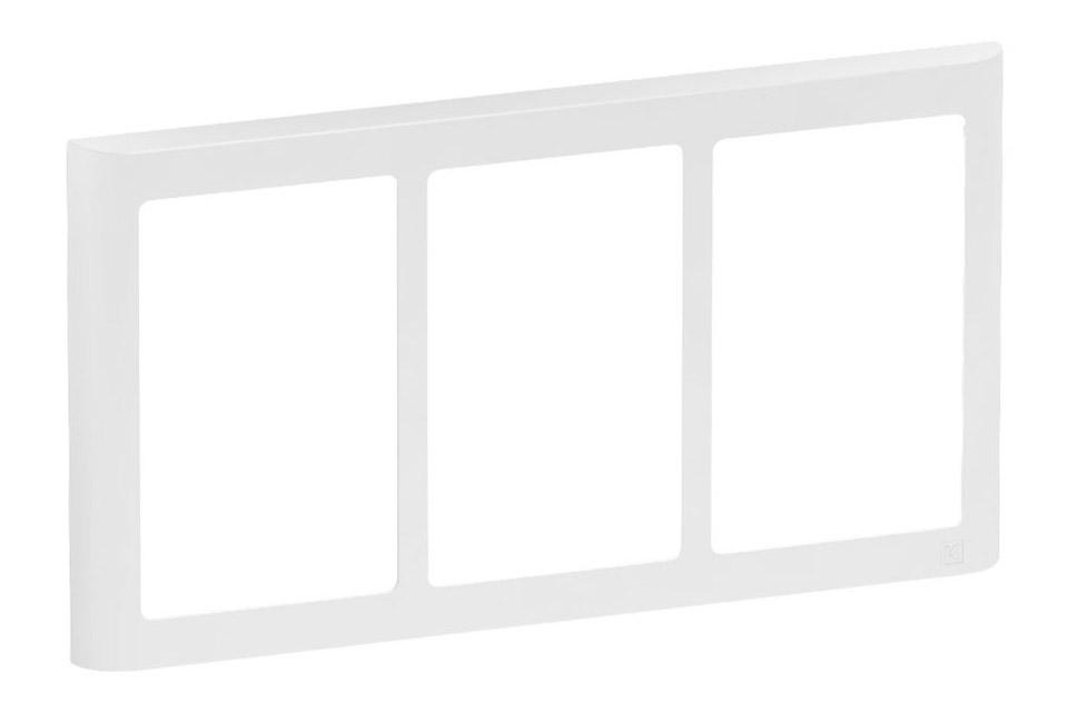 LK FUGA Softline designramme, 3x1,5 modul, hvid