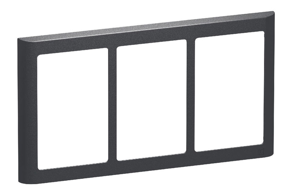 LK FUGA Softline designramme, 3x1,5 modul, koksgrå