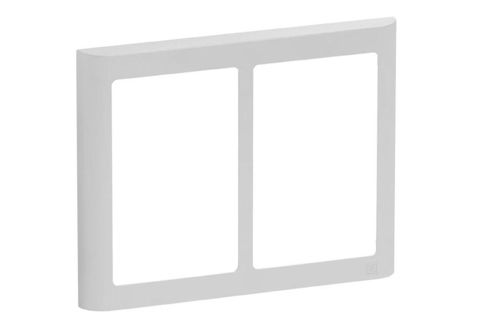 LK FUGA Softline Design ramme, 2x1,5 modul, lysegrå