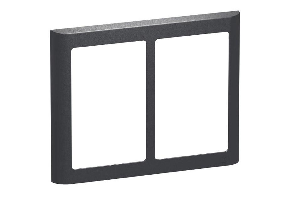 LK FUGA Softline Design ramme, 2x1,5 modul, koksgrå