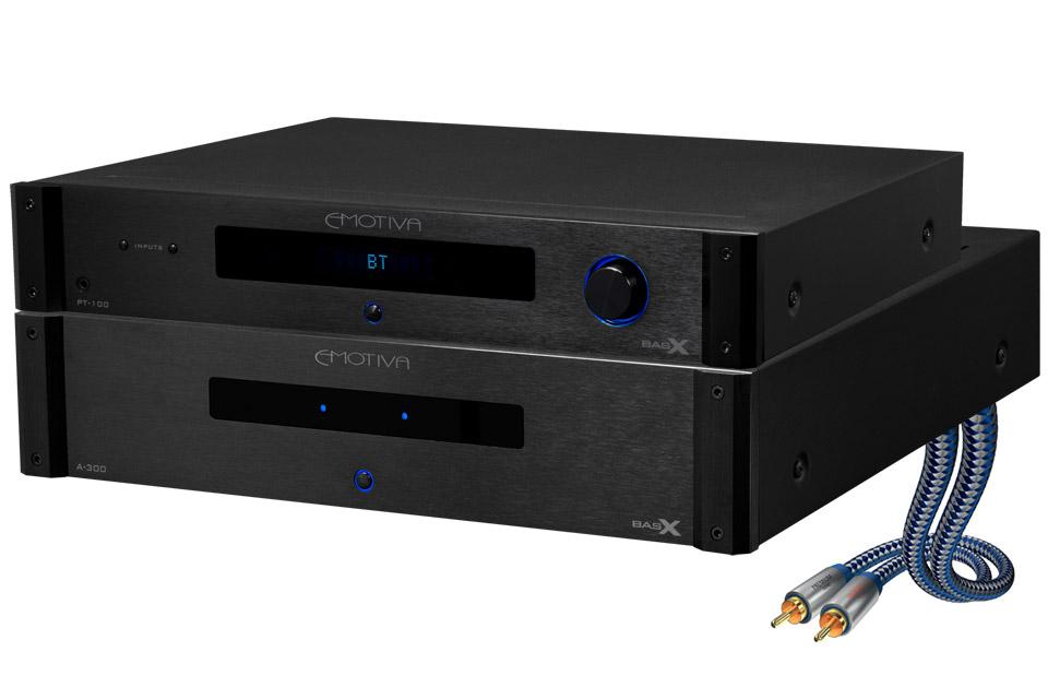 Emotiva BasX stereo bundle (PT100, A300)
